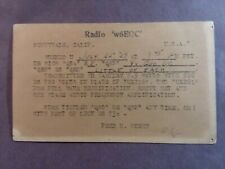 New listing Sunnyvale (Silicon Valley) California- Fred M. Hoehn- W6Eqc- 1929- Qsl