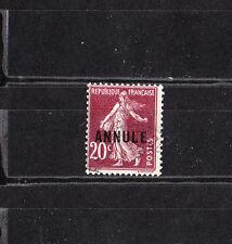 timbre France  Semeuse  20c brun  surchargé Annulé     NUM: 139 CI 2  oblitéré