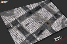 Battle mat: Concrete - Warhammer 40k wargame terrain scenery, city fight 6x4