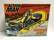 MISSION RAFT 1993 Kenner ACTION MAN with motorized outboard engine NOS