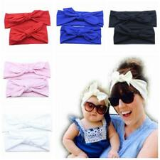 Girl Toddler Mommy And Baby Cotton Rabbit Ear Hairband Turban Knot Headband