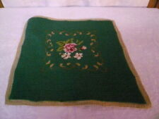 VINTAGE WOOL FINISHED NEEDLEPOINT CHAIR PILLOW COVER