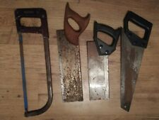 Job Lot of 4 Saws (DIY, Tools, Hacksaw, Tenon Saw, Woodwork)