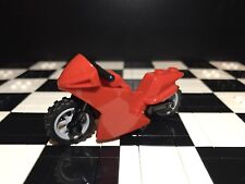 Lego Red Motorcycle / Motorbike X1 City / Sports / Minifigure Not Included