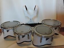Remo Marching Band Tenors Quads 10 12 13 14 with Carrier