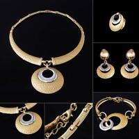 New Women Pendant Choker Chunky Statement Bib Necklace Earring Jewelry Charm  DI