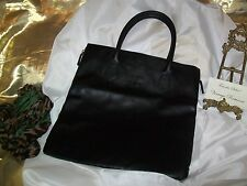 Givenchy Black Tote Shopper Brand NEW Parfums Faux Leather Zipper Sides