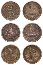 Netherlands - Lot ½ Cent 1884, 1885, 1886