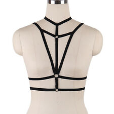 Sexy Goth Bandage Lingerie Elastic Harness Cage Bra Cupless Body O-Ring (S0034)