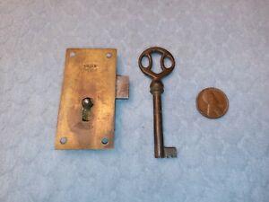 Cupboard Door Lock Brass Reversible