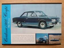 HINO CONTESSA 1300 COUPE orig 1965 Sales Leaflet Brochure - Michelotti