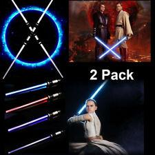 More details for 2-in-1 2pcs lightsaber light up + sound fx led sword toys for kids costumes uk