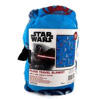 "Star Wars Plush Travel Blanket Throw 50 x 40"" in Darth Vader Millennium Falcon"