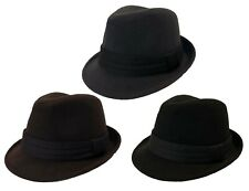 FEDORA TRILBY GANGSTER FANCY DRESS WOOL FEDORA BUCKET HAT MEN WOMEN CAP