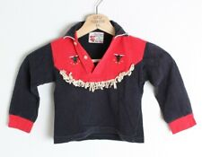 Vintage Kid's Youth Toddler Roy Rogers Shorthorn Western Shirt Embroidered 4T