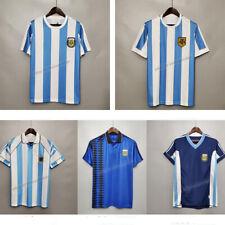 1986 Maradona #10 Team Argentina Soccer Fpptball Jersey 1978 1994 1998 Home Away