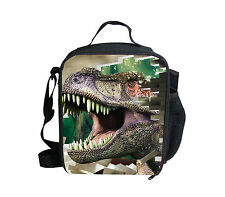 3D Dinosaur Children's Insulated Back to School Lunch Box Boys Cooler Bag Gift