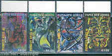 PAPUA NEW GUINEA 2012 PIONEER ARTS 5 SET OF 4 STAMPS