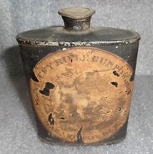 antique paper label Hazard gun powder in flask