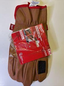 "Milwaukee M#48-73-0013 Goatskin Leather Gloves XL 10"""
