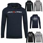 JACK & JONES Herren Hoodie Kapuzen Pullover Langarmshirt Pulli Sweat Brust Print