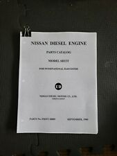 1980 Nissan SD33T Diesel Engine Parts Catalog For International Harvester Scout