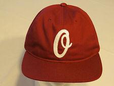 "Obey Worldwide Mens Hat adjustable buckle ""O""  one size maroon hat bunt 6 panel"