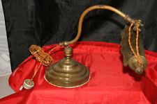 lourde lampe articulée de notaire de bureau en laiton début du siècle