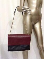 Lanvin Black & Burgundy Golden Chain Flap Bag