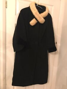 Harold Clive Couture Mayfair Wool & Angora Vintage Caot Size 16