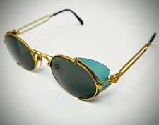 90's JPG Jean Paul Gaultier Sunglasses - Matt Gold,Two Tone Green Caps/Lens