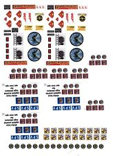 Dinky Captain Scarlet 103 104 105 Corgi 268 Hornet Batmobile + AUTOCOLLANT TRANSFERTS...