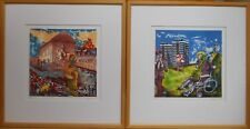Northern Ireland, Pair of Lithographs by Anthony Davies ARCA, listed artist 1986