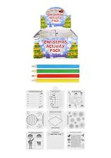 Christmas Activity Pack, kids Favors & gift.Table Games.Pencils,stocking filler