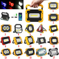 20W Portable USB Rechargeable LED Flood Light Outdoor Garden Work Spot Lamp
