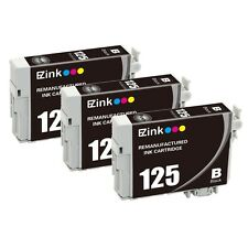 3PK 125 Black Ink Cartridge For Epson WorkForce WF-325 WF-520