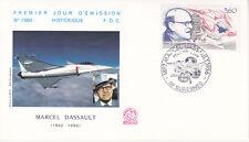 Enveloppe maximum 1er jour FDC n°1560 1988 - Marcel Dassault Aviation