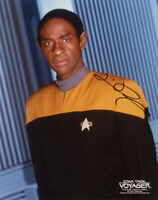 TIM RUSS SIGNED AUTOGRAPHED 8x10 PHOTO TUVOK STAR TREK VOYAGER BECKETT BAS