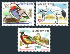 Korea South 493-495,lightly hinged.Mi 520-522. Birds 1966.Bucks,Cranes,Pheasants