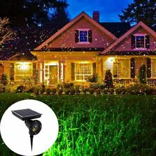 Outdoor Christmas Laser Projector Light Sky Star Solar Powered Decor Garden Lamp