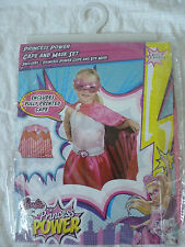 BARBIE - PRINCESS POWER Cape And Eye Mask Dress Up Set Costume BRAND NEW IN PACK