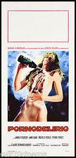 PORNODELIRIO LOCANDINA CINEMA EROTICO 1977 GRANDES JONISSEUSES PLAYBILL POSTER
