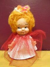 1960s Uneeda Doll company Pee Wees doll in cute outfit original doll net dress