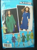 Simplicity Pattern 2754 Project Runway Tucked A-Line Dress Sizes 12-20 UCFF NOS