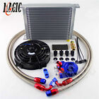 30 Row -8an An8 Engine Transmission Oil Cooler Blue 7 Electric Fan Kit