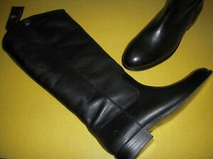FRYE Melissa Button2 Leather Tall Shaft Western Boots Women's US 8.5 M Black