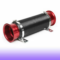 "3"" Dia Red Aluminium Flexible Cold Air Intake Duct Pipe Hose Tube Kit"