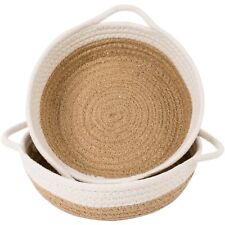 "Goodpick 2pack Cotton Rope Basket - Woven Storage Basket - 9.8"" x 8.7"" x 2.8"""