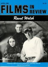 Raoul Walsh 15pgs Films In Review magazine, Bertolucci Annaud 1982 April Sandler