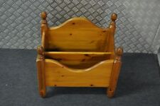 Vintage Two Component Wooden Magazine Rack Book Rack